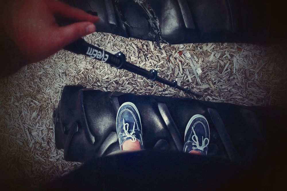 What is more important, to remember where you were standing or to keep in mind where you are going? My Feet From Where I Stand Taking Cliche Photos At The Park A Day In The Life Monopod People Of EyeEm Follow Me If You Can Photography Balancing Act