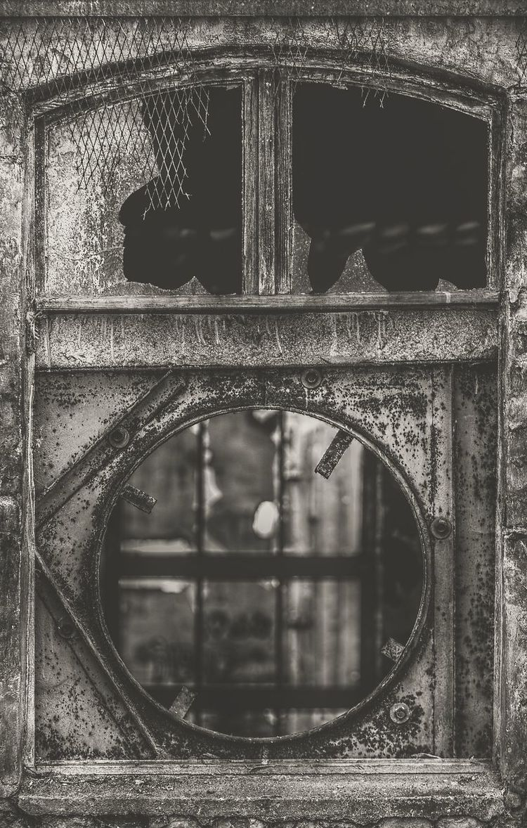 Lost Place Window Architecture Black & White Broken Broken Glass Broken Window Building Exterior Built Structure Busted Demolition Fenster Glas Glass HDR Industrial Photography Lost Places Pull Down Rotten Ruin Vintage Photo Vintage Style Window