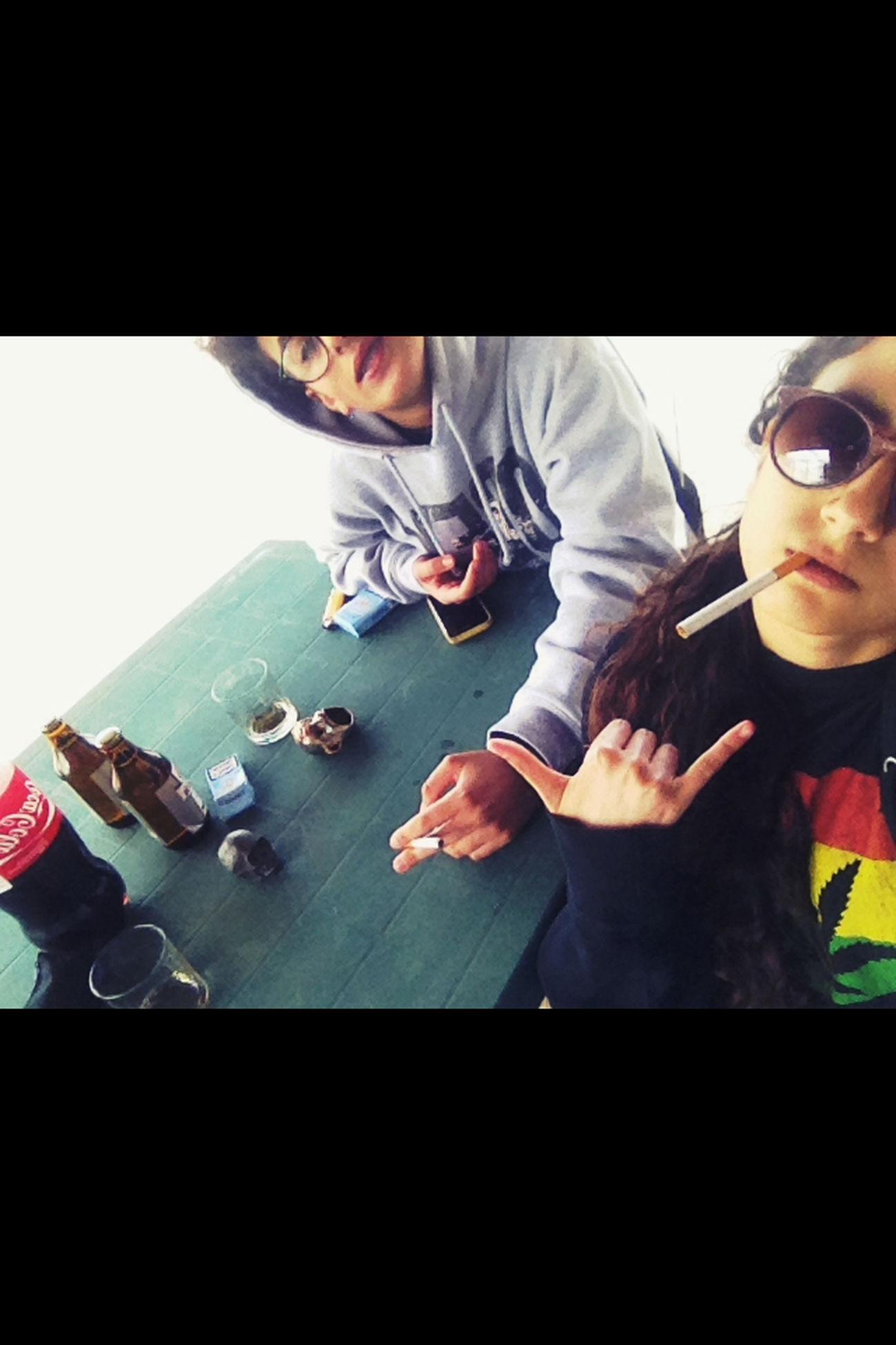 100happydays Day12 Bestfriend Beer Cigarette  Study Coca Camel20 Bulldog Bic