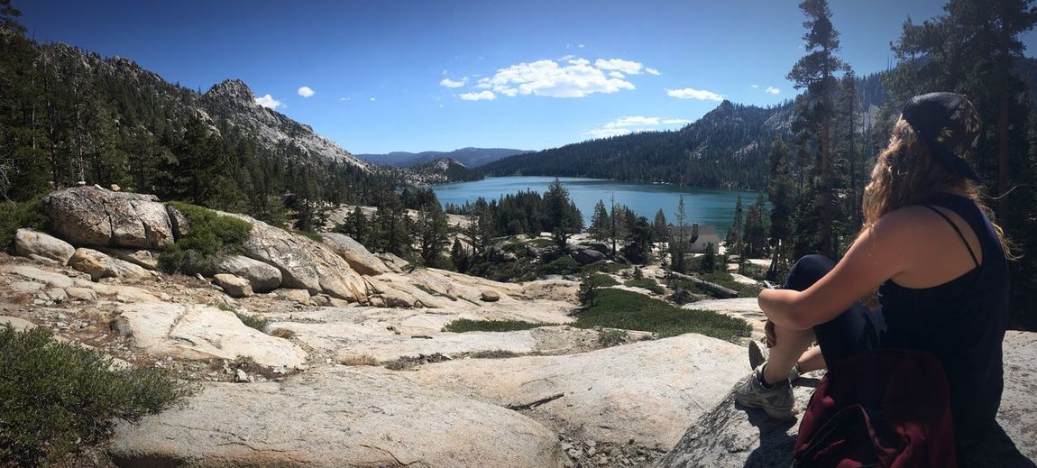 Sierra Nevada Mountains Pacificcresttrail Beauty In Nature Tranquility Lake Echolake Echo Summit Tahoe Tahoerimtrail