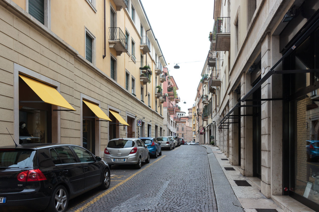 Verona, Italy - September 27, 2015 : Quiet streets of the old city of Verona. Via Leoncino street in Verona, Italy Architecture Architecture Art Building City Culture Day Europe Famous History House Italy Landmark Old Outdoors People Square Street Tourism Town Travel Urban Verona View Walking