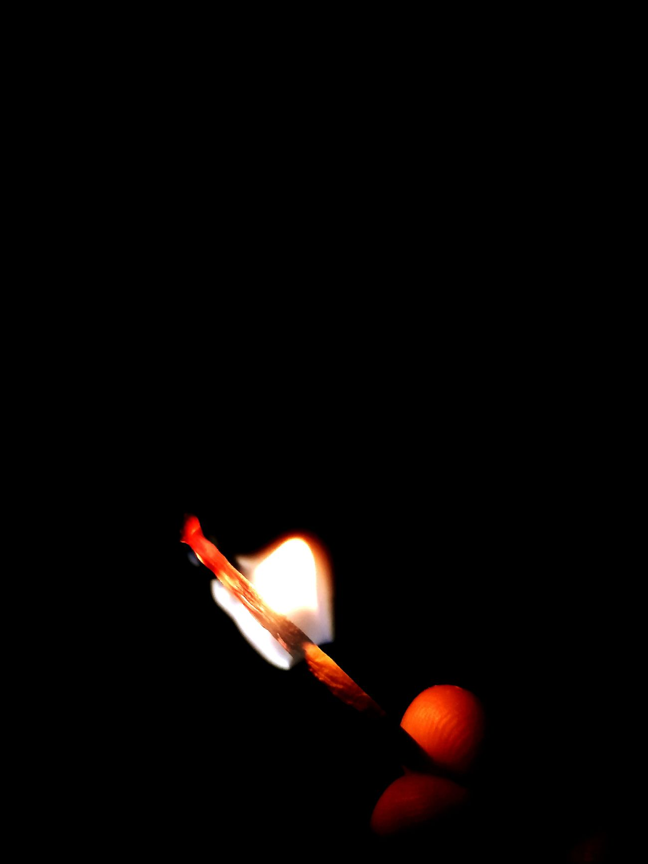 Burning Copy Space Matchstick Igniting Flame Match - Lighting Equipment Heat - Temperature Close-up Smoke - Physical Structure Black Background One Man Only People