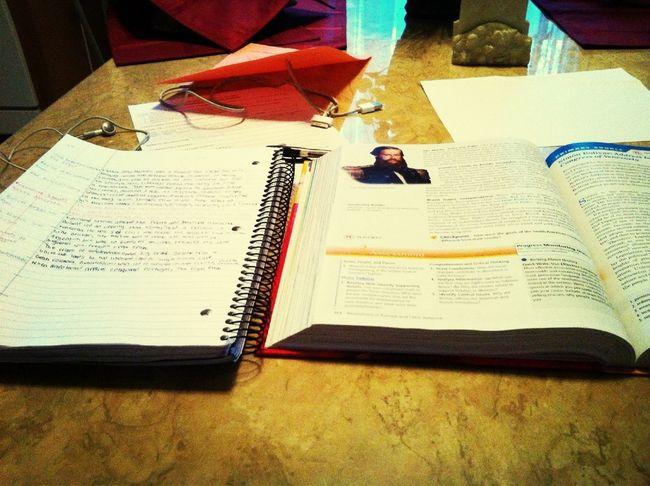 Doing Homework.