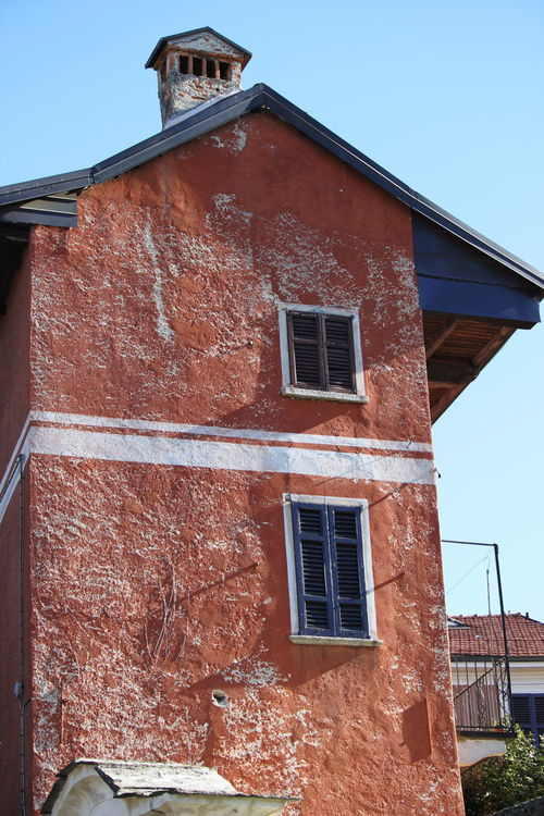 Ameno Town Architecture Building Exterior Built Structure Close-up Day House Italy No People Piemonte Red Color Sky
