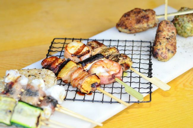 Yari Yakitori Japanese Food Barbeque Grilled Seafood Grill