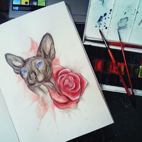 эскизы Tattoo Tattoo Design Cat Sketch Drawing