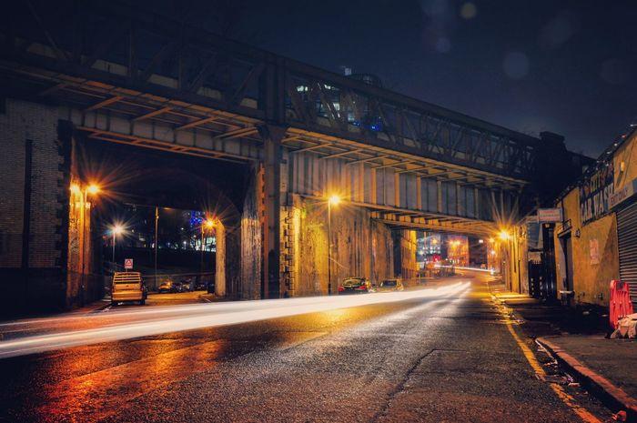 Manchester Street Photography Night Crawler Long Exposure Street Life