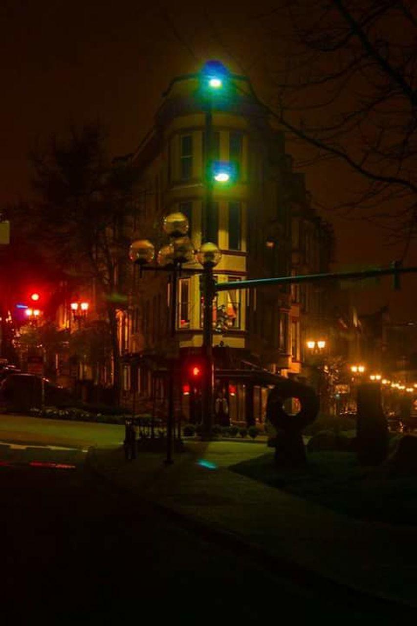 night, illuminated, building exterior, city, architecture, built structure, street, street light, city life, transportation, outdoors, no people, sky