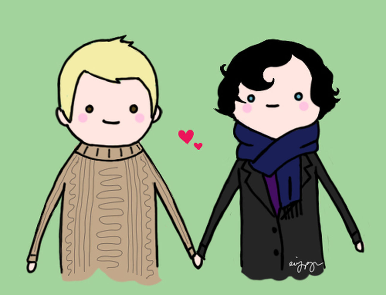 Sherlock Jawn Johnlock Cute