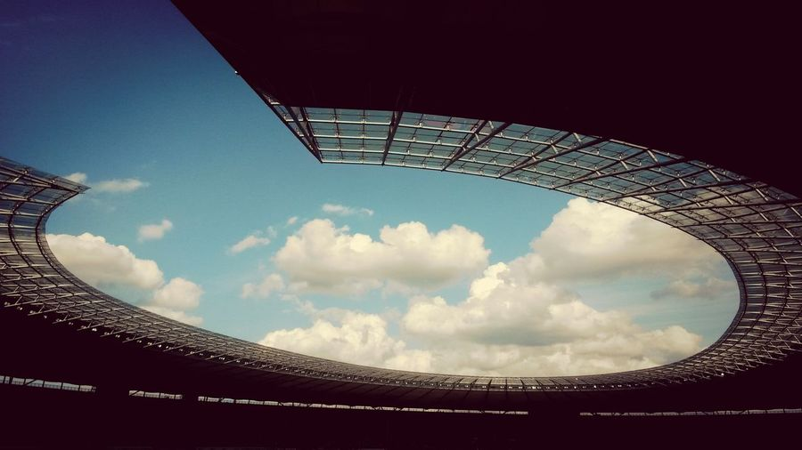 Stadium Architectue Sky And Clouds Roof