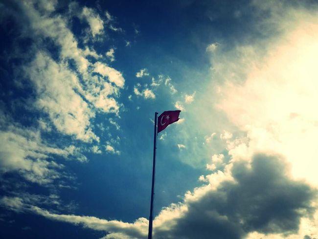 Turkish Flag Cloud And Sky Landscape Dünyanın En Güzel Bayrağı - Ay Yıldız