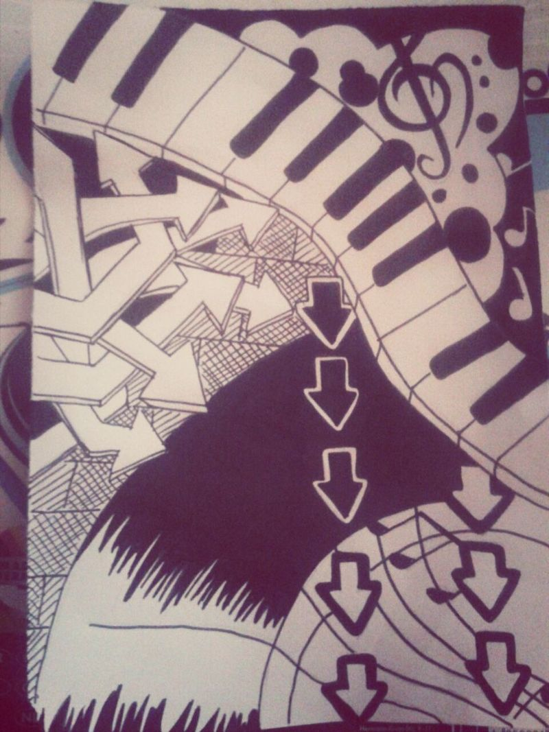 My Drawing Black And White Doodles.