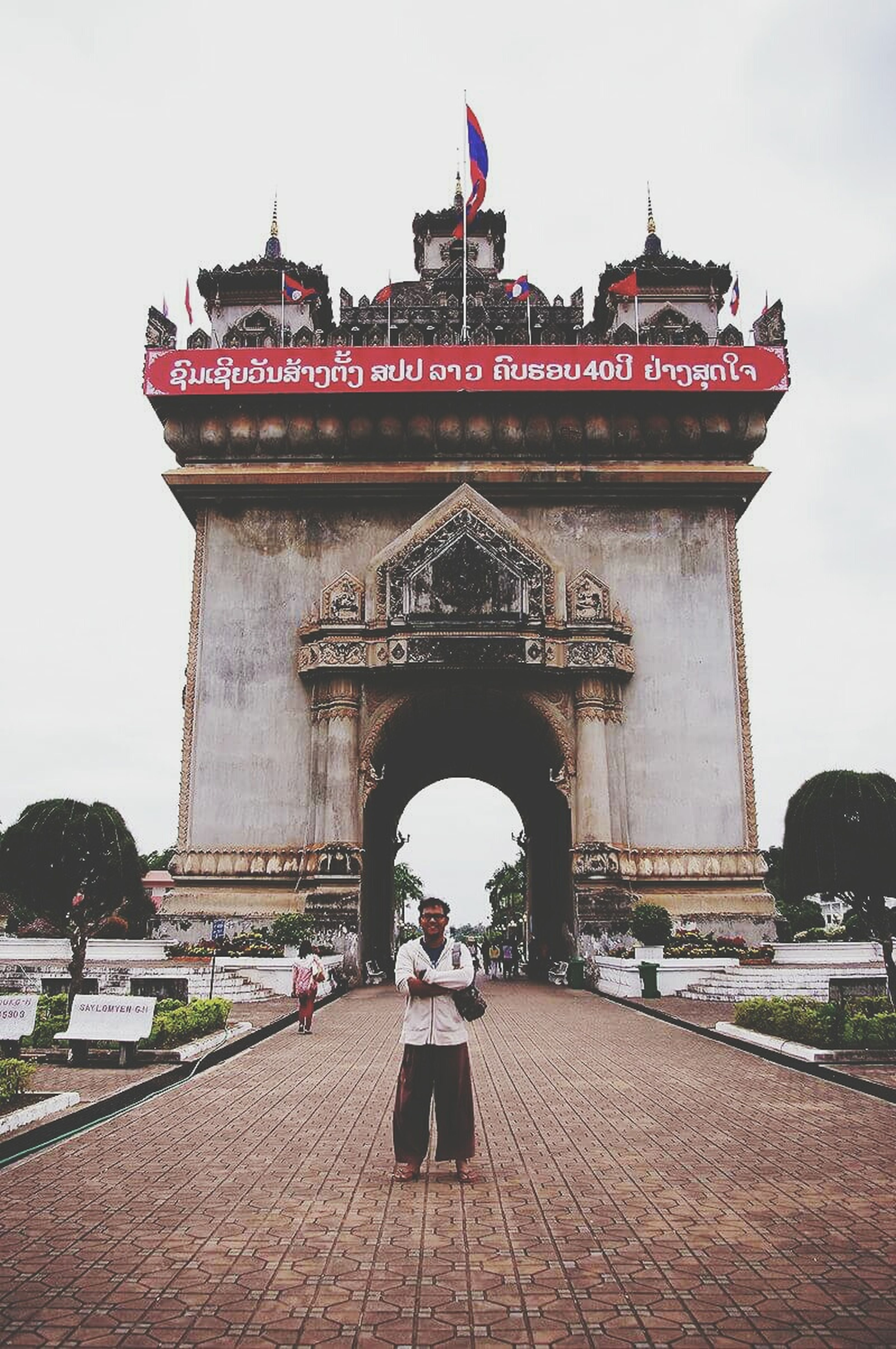 Victory gate Laos Gate Miracle Jurney Travel Alone Experience