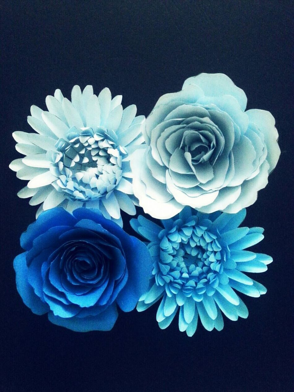 Paper Flower Handmade Crafts Blue EyeEmNewHere
