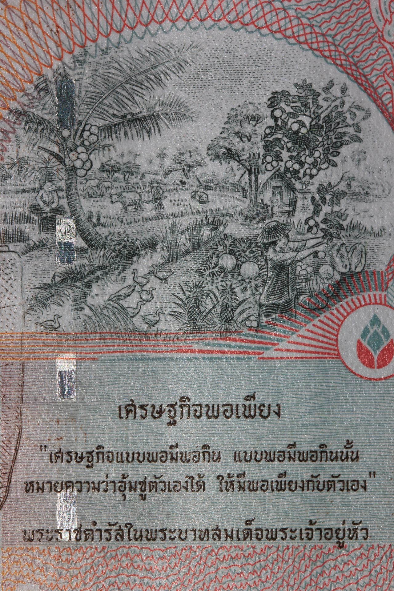 Thailand Royal Words Enough History No People Close-up Pencil Drawing Banknote King Of Thailand King Of Kings
