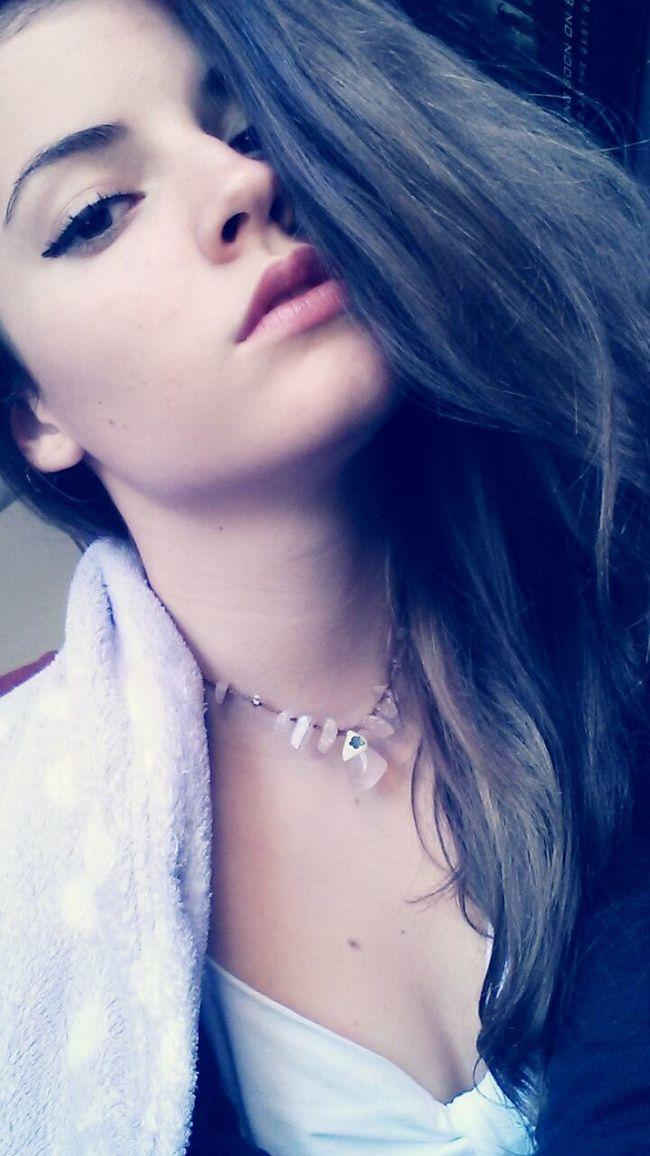 Taking Photos Redlips Brunette Girl Selfie Wintertime Straightface JustMe