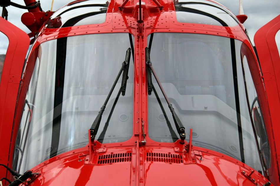 Helicopter Airplane Airport Aircraft Red Rouge Aircrafts Red Close-up Day No People Outdoors