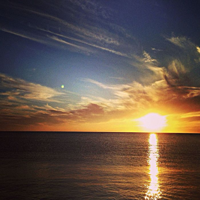 Shoalwater Perth Western Australia Sunset Sky And Clouds Indian Ocean Beautiful