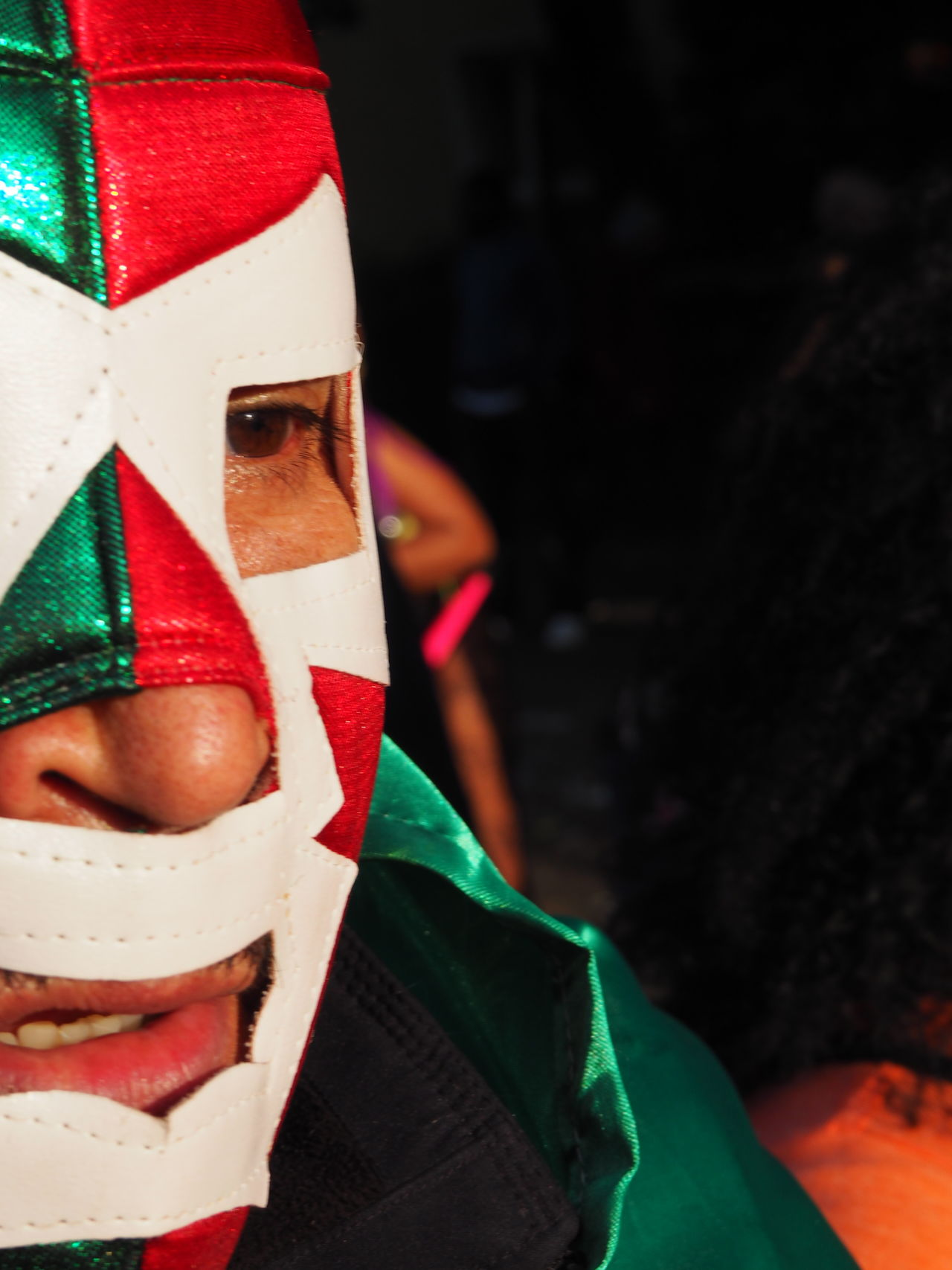 2016 Berlin Catch Celebration Close-up Cultures Day Green And Red Headwear Karnaval Der Kulturen Mask Masked Man Maskedportraits Mexican Mexican Catch Mexican Style Mexico Outdoors People Portrait Shiny Tradition Unrecognizable Person Wrapped TCPM