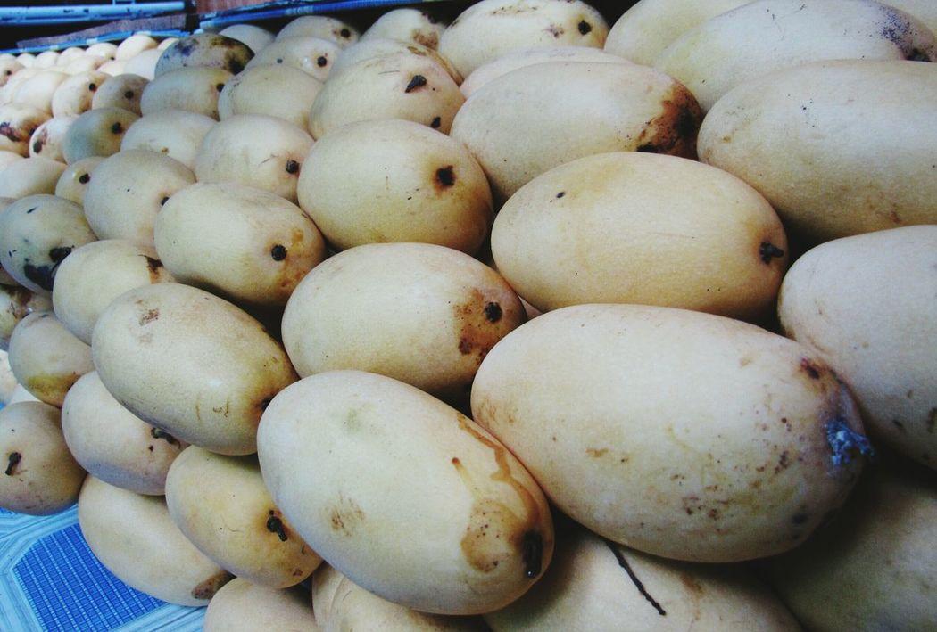 Food Fruit Market Stall Mangoes Ripe Fruit Ripe Mangoes Close-up Healthy Eating
