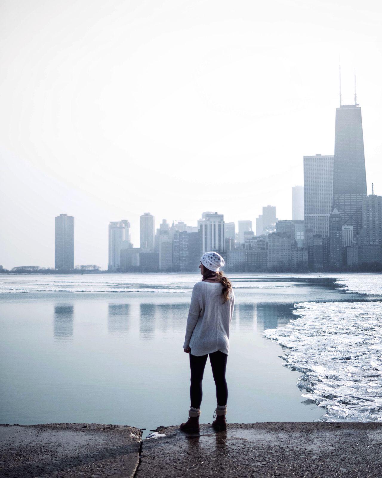 Cityscape Urban Skyline Architecture Weather Ice Chicago Skyline Chicago EyeEm Best Shots Finding New Frontiers