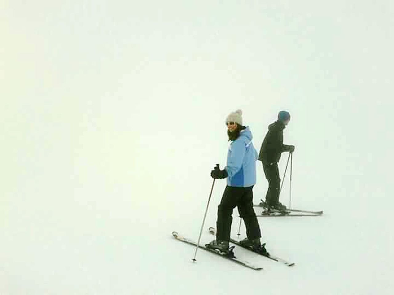 Foggy skiing in Sierra Nevada Fog Skiing Which Way To Go? Lost Floating Sierra Nevada