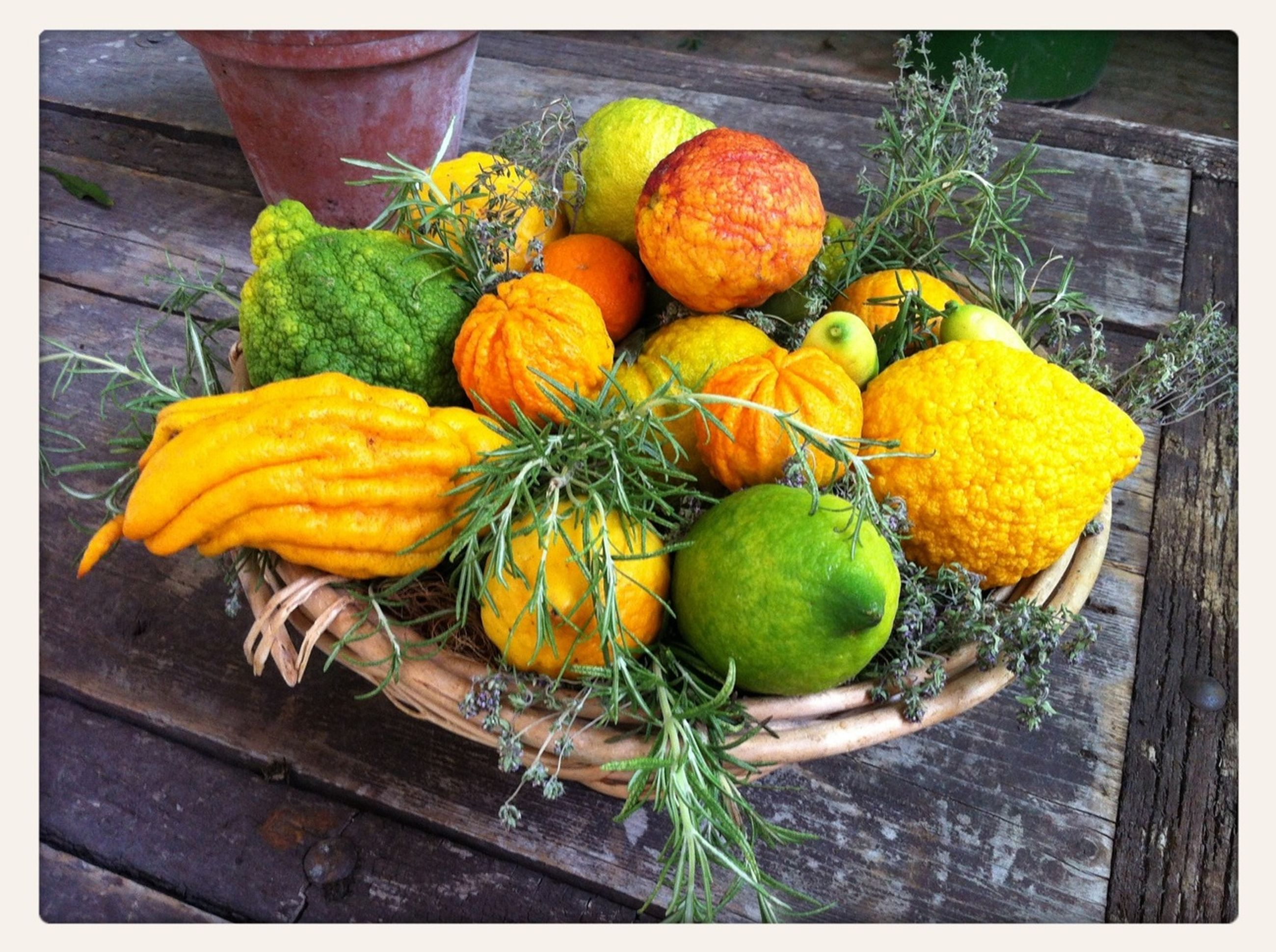 transfer print, freshness, food and drink, healthy eating, food, auto post production filter, vegetable, fruit, pumpkin, high angle view, wood - material, yellow, still life, leaf, close-up, large group of objects, organic, day, no people, orange color
