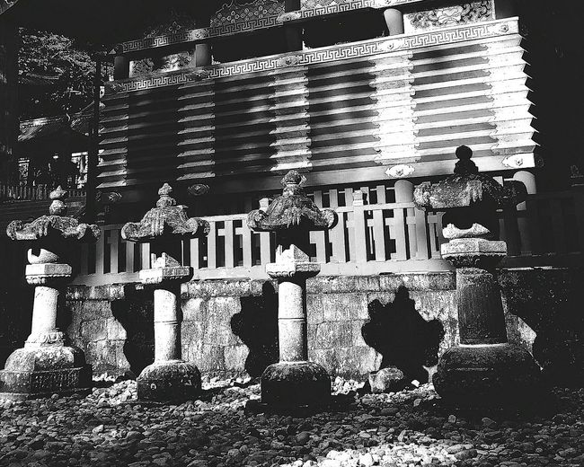Stone Lanterns Light And Shadow Light Shadows Shrine Nikko Daytripping Tochigi Prefecture Japan Travelphotography Bnw_collection Bnwphotography Bnw_captures Bnw_japan Bnw