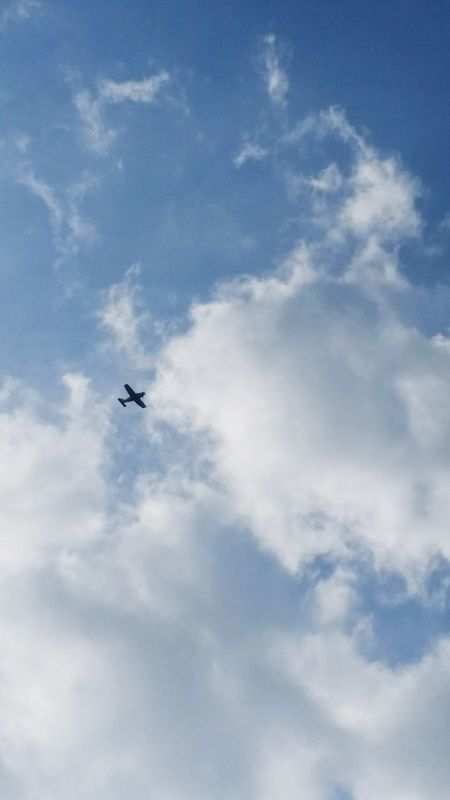 Flying Transportation Airplane Mode Of Transport Air Vehicle Sky Mid-air Cloud Scenics Cloud - Sky Cloudscape Outdoors Something In The Sky EyeEm Best Shots Eyem Best Shots EyeEm Gallery Catching A Moment On Camera No People Silhouette