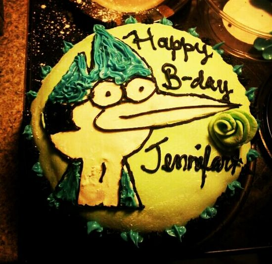 Birthday Cake Regular Show Sister Made It