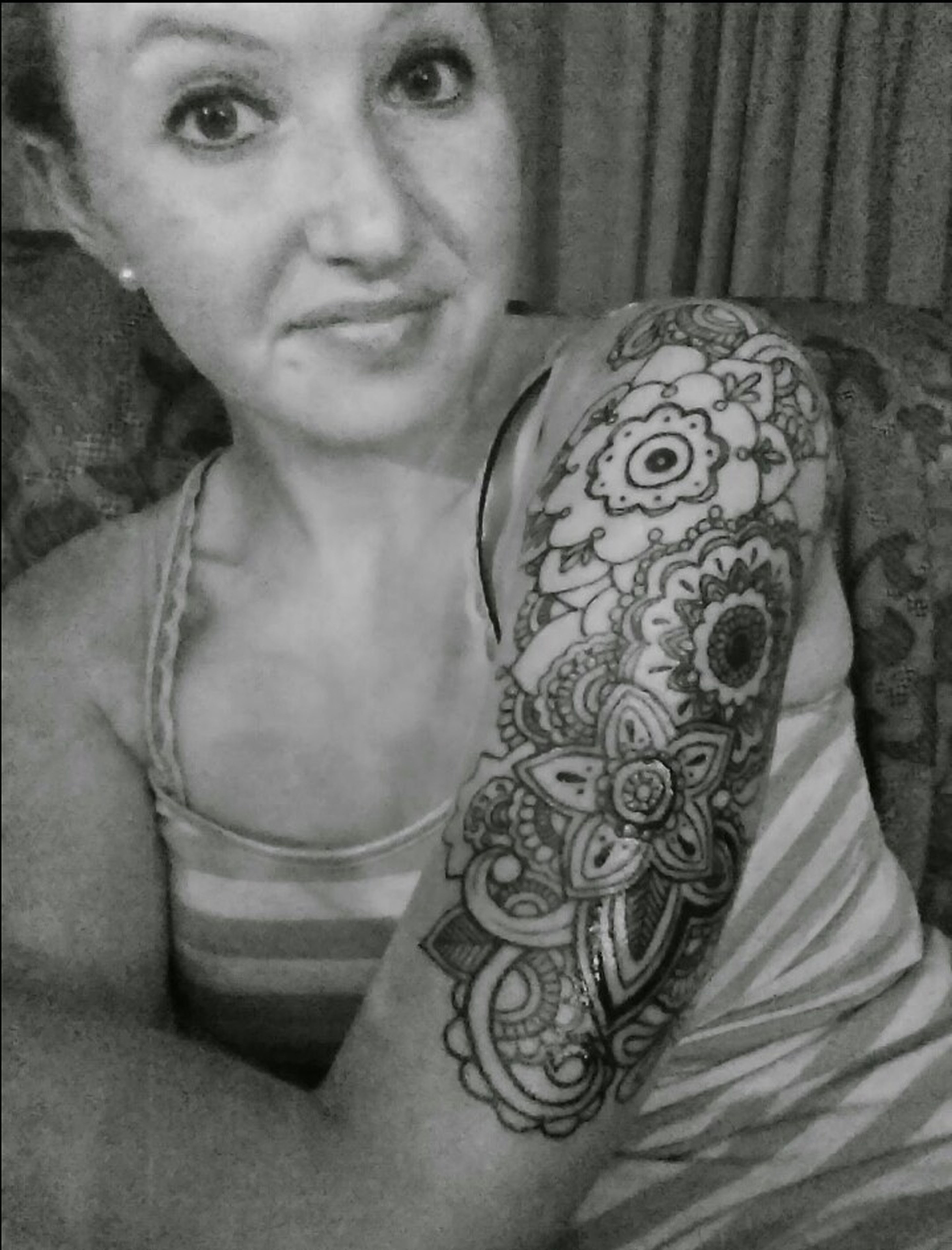 Oh hey y'all, its been awhile. & i got a half sleeve tattoo!! Selfie TeamHalfSleeve Tattoo That's Me