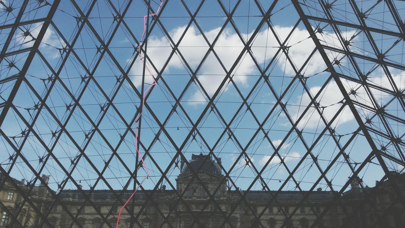 Louvre Paris ❤ Blue Sky Spirng Just Came