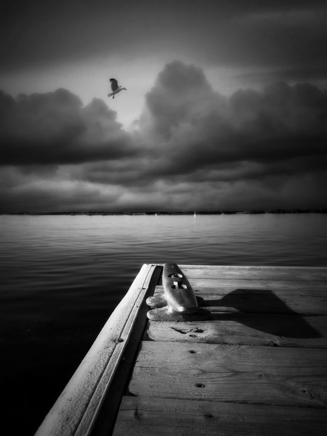 Passing storm. Looks like it's going to be a beautiful day after all. IPhoneography On The Docks Bw_collection Thunderstorm