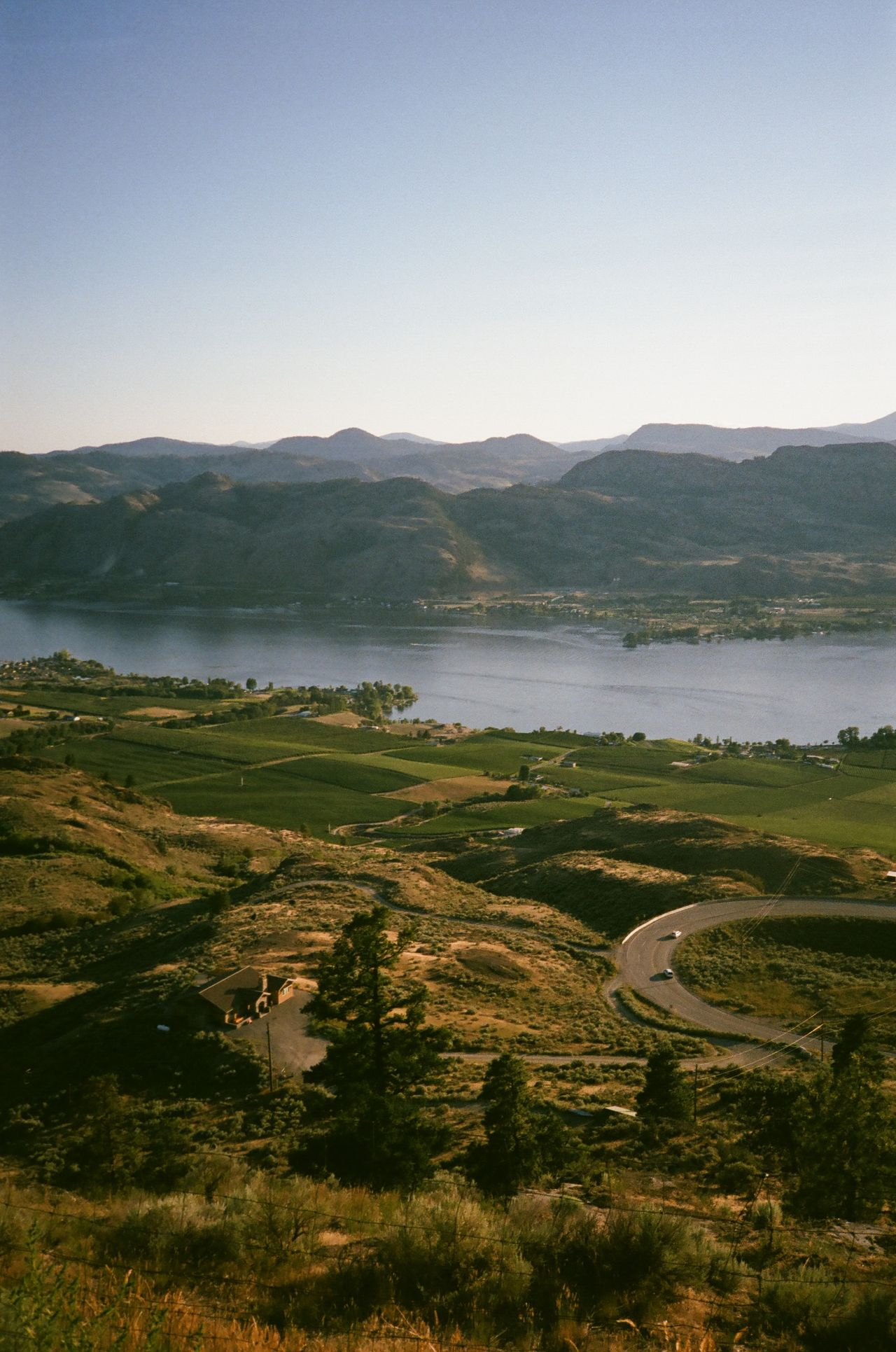 Agriculture Beautiful Landscape Beautiful Nature Beauty In Nature British Columbia Canada Clear Sky Countryside Cultivated Land Farm Lake Lake Side Lake View Landscape Majestic Mountain Mountain Range Nature Non-urban Scene Osoyoos Rural Scene Scenics Solitude Tranquil Scene Tranquility