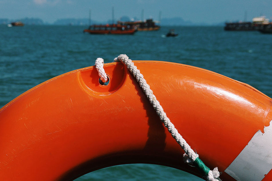Boat Buoy Emergency Insurance Life Buoy Life Saving Nautical Vessel Orange Color Outdoors Safety Sea Travel Travel Insurance Water