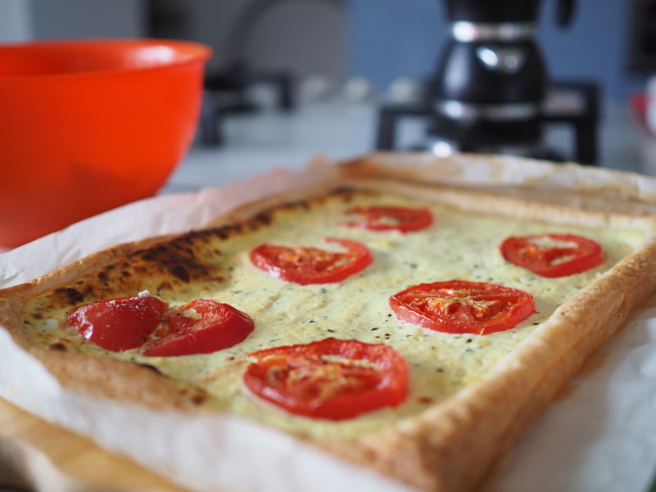 Very good Baked Baked Cake. Baking Tin Blur Background Coffeepot Cookers Food Greaseproof Paper Indoors  Italian Food Italian Style Kitchen No People Pizza Cutter Pomodori Pot Puff Pastry Ricotta Roller Salt Cake Salty Cake Table Taste Tomatoes Torta Salata