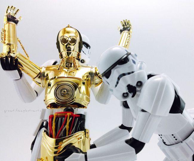 Selfie Time Toyphotography Toycommunity Starwars BANDAI Stormtrooper C3po