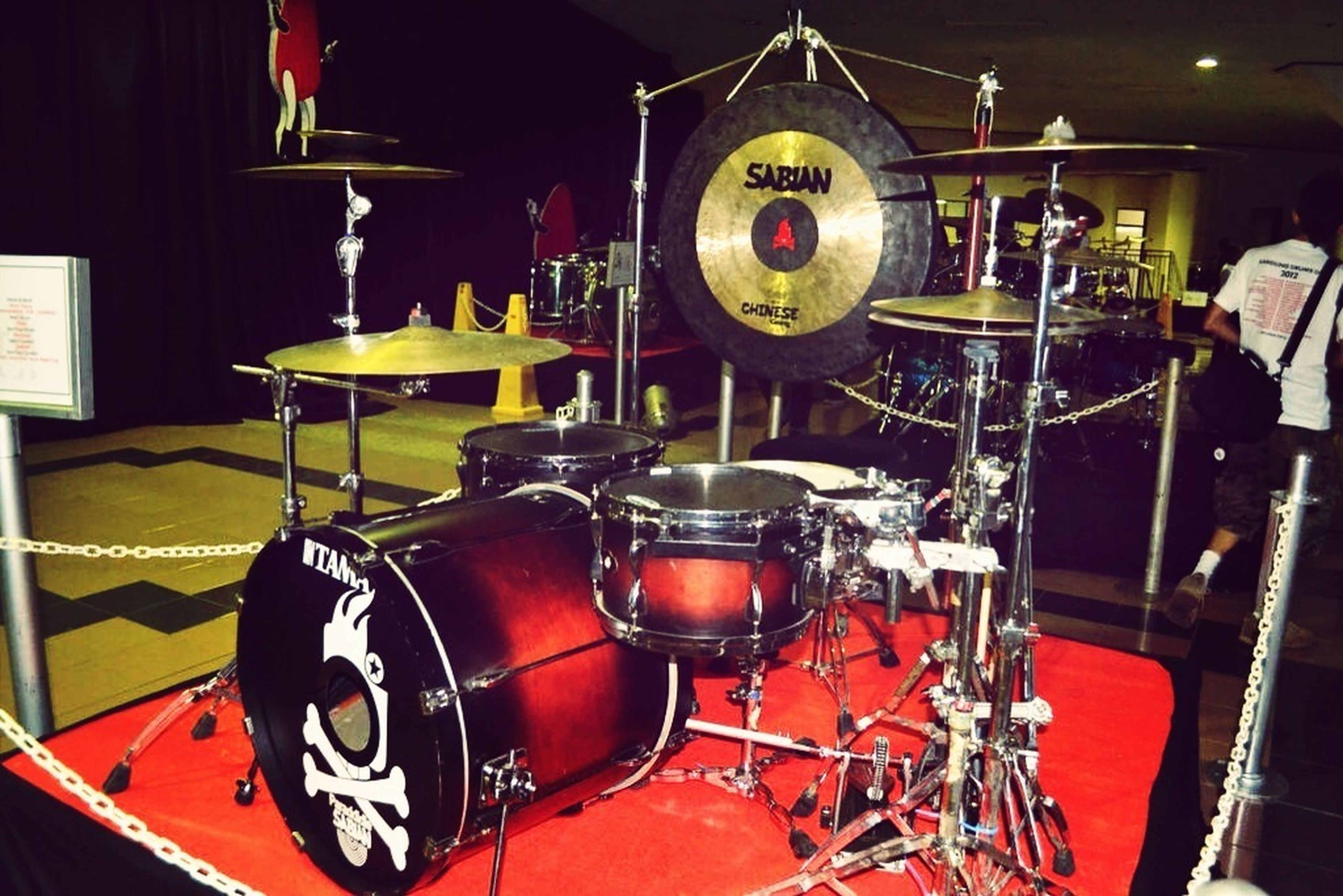 My Drumset Display On Bandung Drums Day 2011