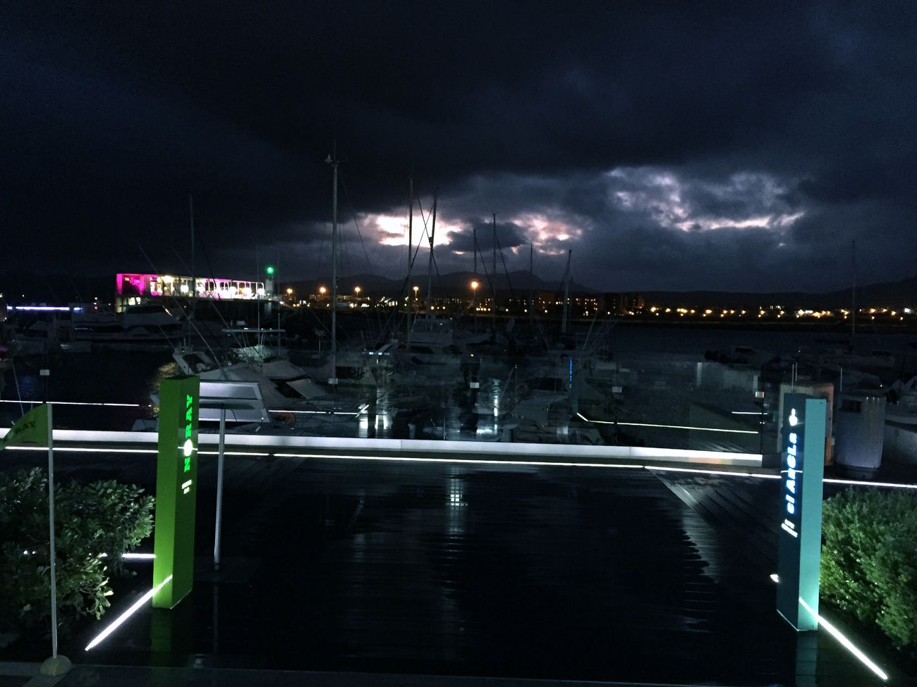 Night in port
