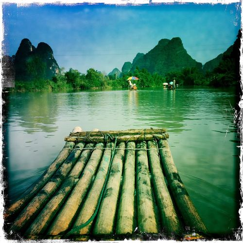 River Guilin Yangshuo Landscape Mountains