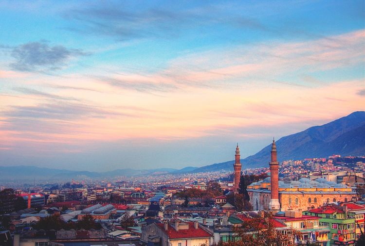Bursa city in Turkey Bursa Ulucami Manzara Landscape Sky HDR Blue Culture Tarihimekan History Mosgue Turkey Taking Pictures First Eyeem Photo