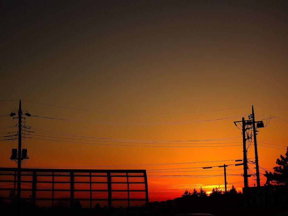 おつかれさまでした。 Sunset Twilight Afterglow 夕暮れ時 おつかれさま NikonP330