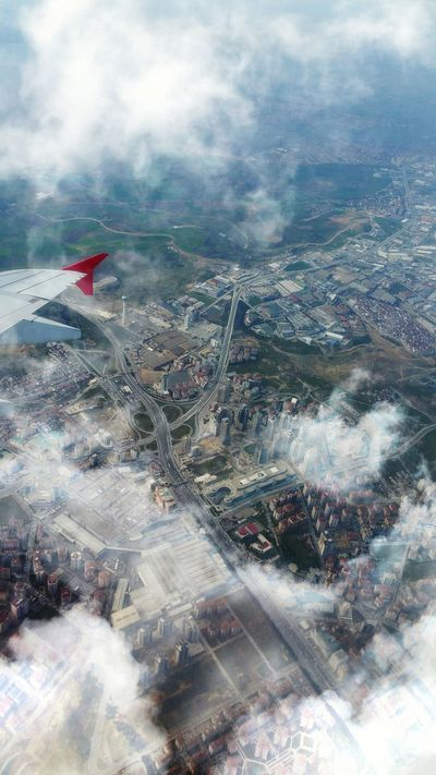 On the way from Helsinki to Istanbul. Aeroplane In The Sky View From The Window... The View From My Window From An Airplane Window Cityscapes Istanbul Flying Over Clouds Aeroplane Window Aerial View Aerial Photography