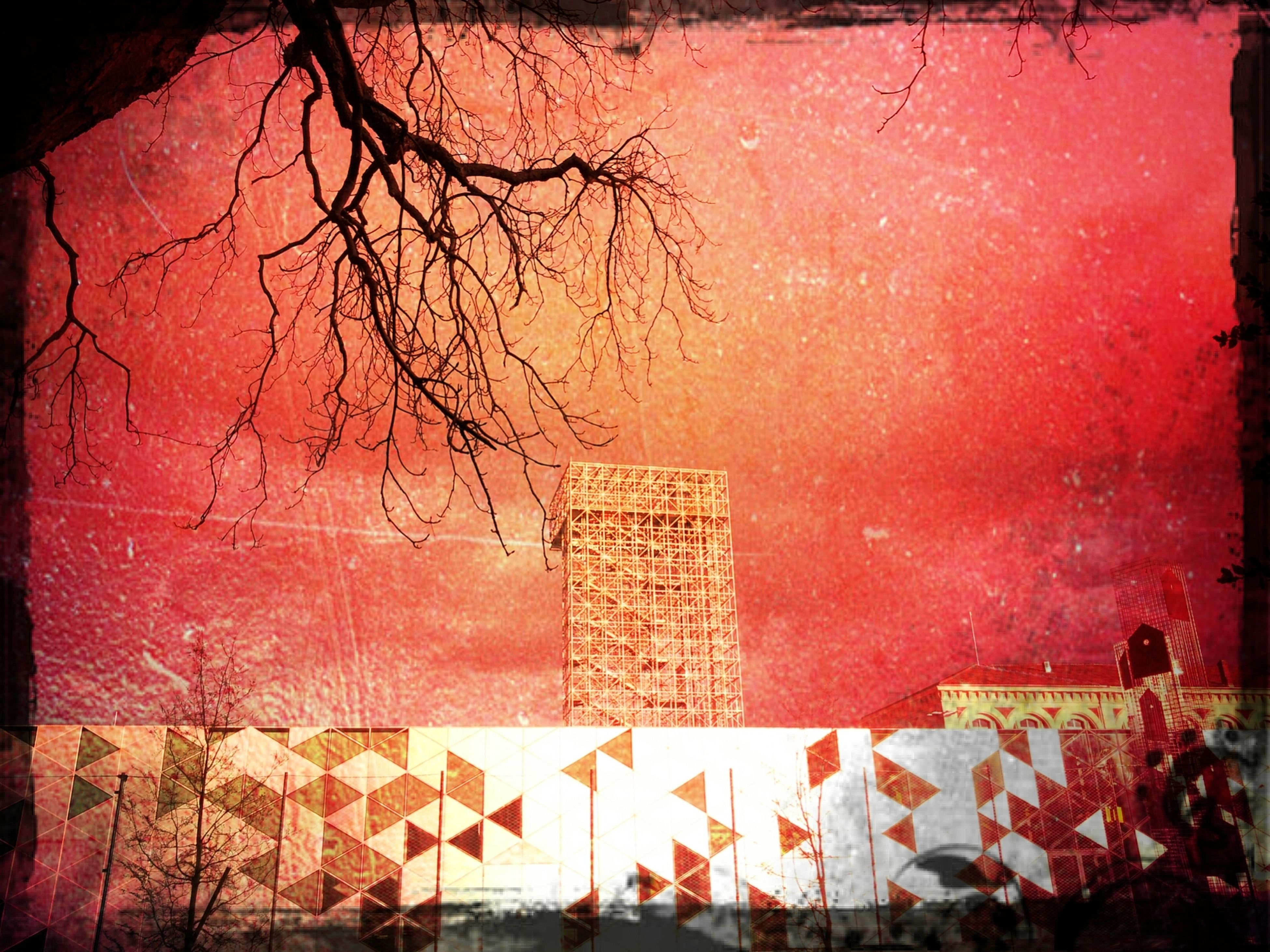 Grunge Infrared Architecture City 2.0 - The Future Of The City
