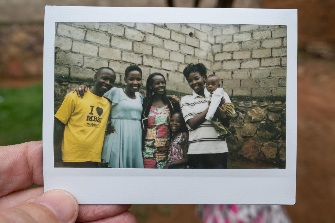 Family portret Africa Baby Casual Clothing Child Day Family Family Time Holding Kigali Lifestyles Polaroid Rwanda
