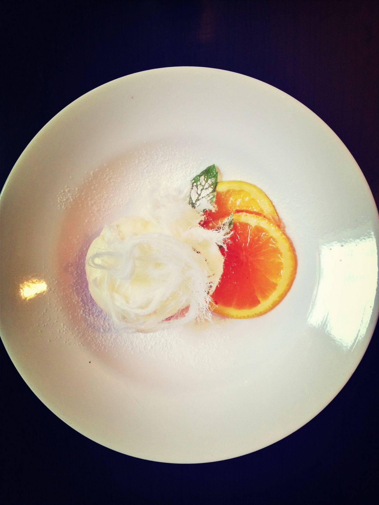 Wobbly creamy Panna Cotta served with Citrus Orange Compote