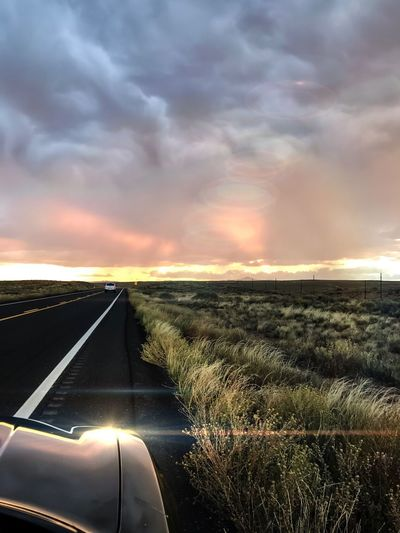"""""""Nature's first green is gold,//Her hardest hue to hold.//Her early leaf's a flower;//But only so an hour.//Then leaf subsides to leaf.//So Eden sank to grief,//So dawn goes down to day.//Nothing gold can stay.""""//—Robert Frost KaibetoAZ Atmospheric Mood Into The West Sunsetcolors Azsunset Azbeautiful Arizona Sunsets Arizonasunsetsarethebest Cloudshidingthesunset Cloudscape Sunsetphotography Passenger Seat Photo Shoot Rural Scene Beauty In Nature Lightroom Iphone7plusphoto IPhone Photography Myownphotography Nothinggoldcanstay Robertfrost EyeEm Viewing Eyesee Autumn 2016"""