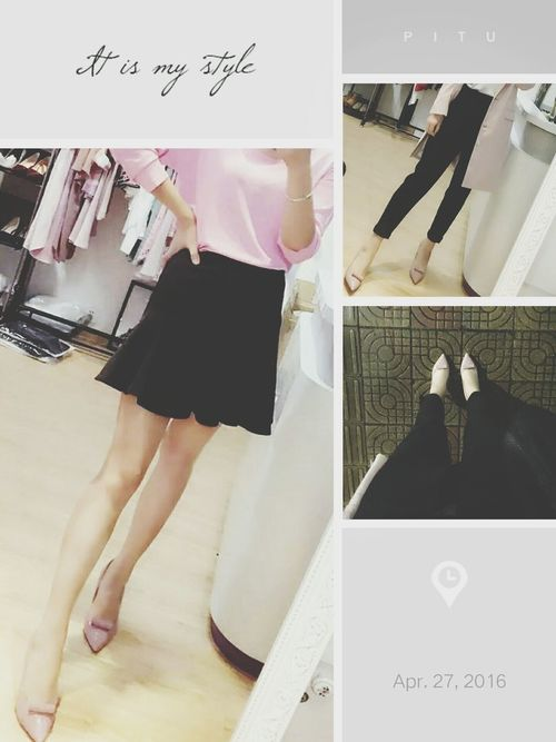 That's Me Shopping Time After The Rain After The Rain Stopped Trying On Dresses Miniskirt Skirts Selfie