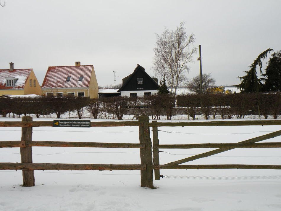 Winter Snow Cold Temperature Nature No People Built Structure Sky Beauty In Nature Environment Landscape Outdoors Day Danmark Danish Countryside - in Store Magleby on the island of Amager in Denmark