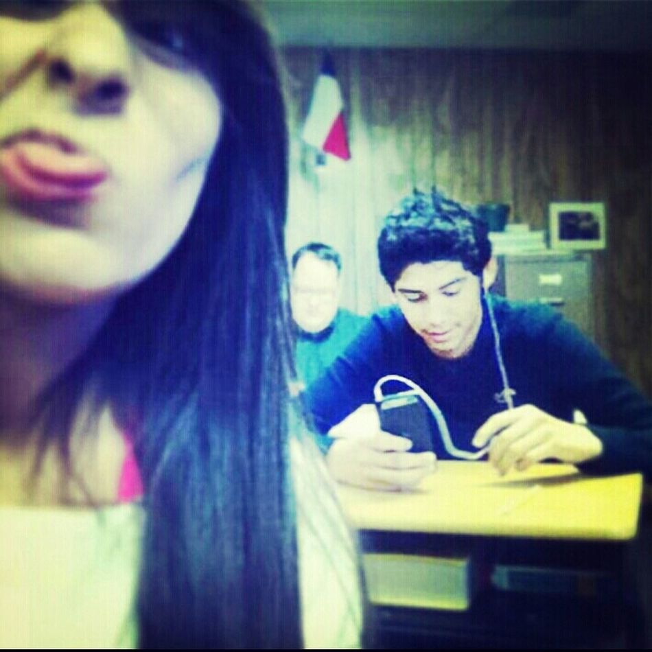 In Spanish Class With My Friend!!